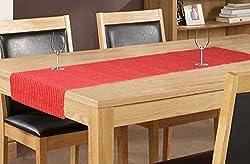 Elan Cotton Marigold Theme Table Runner - 33 X 120 CM (Red)