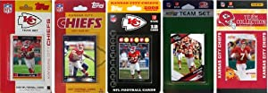 NFL Kansas City Chiefs 5 Different Licensed Trading Card Team Sets by C&I Collectables