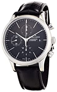 Maurice Lacroix Men's LC6058-SS001330 Les Classiqu Black Chronograph Dial Watch