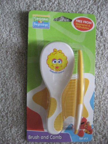 Sesame Beginnings Big Bird Brush and Comb Set - 1