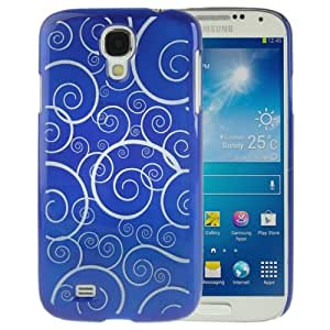 Crazy4Gadget Spiral Decorative Pattern Smooth Surface Plastic Case for Samsung Galaxy S IV / i9500 (Blue)