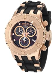 Invicta Women's 0534 Reserve Chronograph Black Dial Black Polyurethane Watch