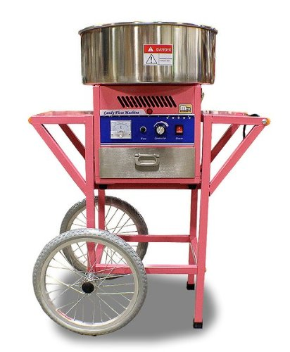 New Mtn Commercial Electric Cotton Candy Machine With Cart Floss Maker Party Store Booth