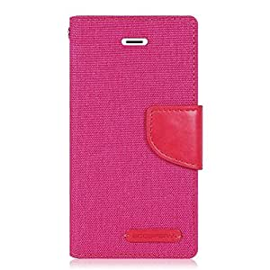 Goospery Canvas Mercury Fancy Diary Wallet Case for Samsung Galaxy Grand Prime -Pink