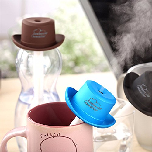 Portable Mini USB Humidifier Water Cowboy Cap Air Diffuser Fresher Mist Maker For Office Home (S2000 Humidifier compare prices)