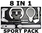 8 IN 1 WII SPORT PACK TENNIS GOLF DRIVING WHEEL