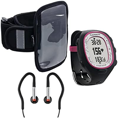 Garmin 010-00743-71 Forerunner 70 with Arkon XL-ARMBAND Sports Armband and Sony MDRAS40EX Sport Earbuds