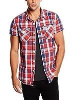 Superdry Camisa Hombre (Rojo / Azul / Blanco)