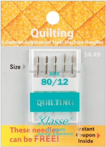 Tacony Corporation Klasse Quilting Machine Needles-80/12 5/Pkg