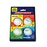 Trick Golfball Company Awsome Foursome Joke Golf Balls - White, 2 Inch
