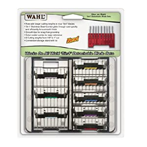 3379 Stainless Steel Attachment Guide Combs for 5 in 1 Blades by Wahl Professional Animal