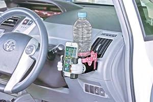 ナポレックス 車用ドリンクホルダー ディズニー・カーグッズ スマートフォンACホルダー ミニー スマートフォン収納ポケット付き 汎用 WN-22