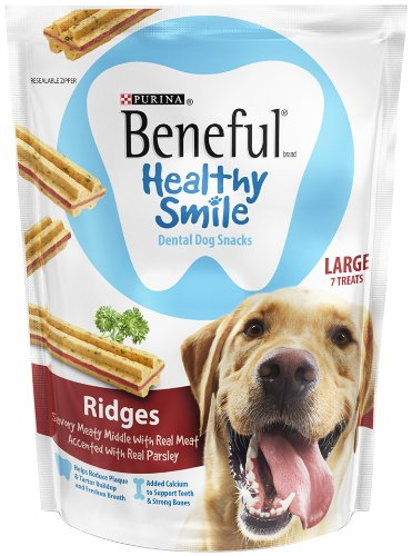 Beneful Healthy Smile Dental Dog Snacks, Ridges, 8.4-Ounce Pouch, Pack Of 1