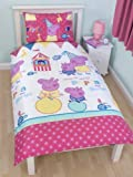 Character World Peppa Pig Funfair 135 x 200 cm Single Rotary Duvet Set