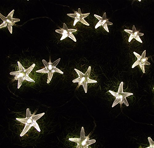 Warm White 3M 20 Led Curtain Fairy String Lights Battery Operated Sea Star Shaped Indoor&Outdoor Used For Christmas, Party, Wedding, New Year Decorations, Etc