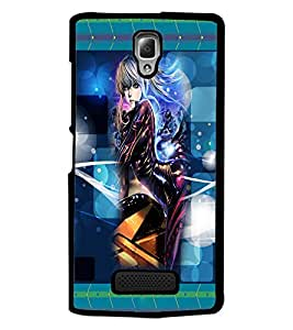 PrintDhaba Stylish Girl D-2483 Back Case Cover for LENOVO A2010 (Multi-Coloured)