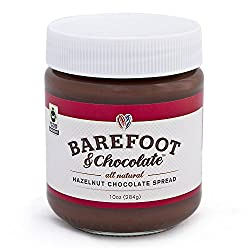 Barefoot & Chocolate – Hazelnut Chocolate Spread – 2 Jar Pack (2 x 10oz)