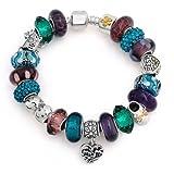 Bling Jewelry 925 Silver Best Mom Heart Dangle Charm Bracelet