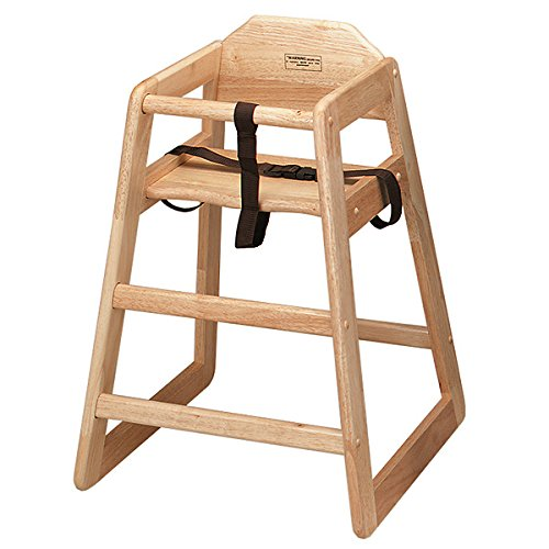 Wooden High Chair Natural | Infant Highchair, Childrens High Chair, Child Seat, Baby Seat - Ideal for Commercial or Domestic Use