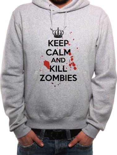 Mister Merchandise Hoodie Keep Calm and Kill Zombies - Uomo Felpa con Cappuccio S-XXL - Molti Colori