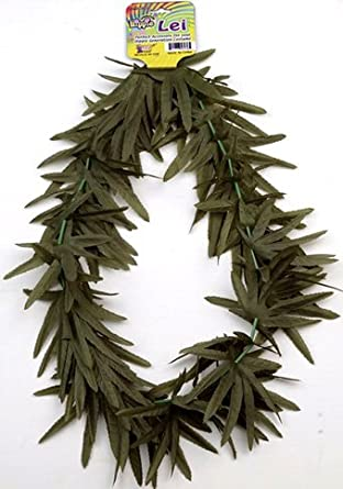 Hawaiian Luau Green Leaf Lei