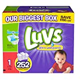 Luvs With Ultra Leakguards Diapers, Size 1, 252 Count
