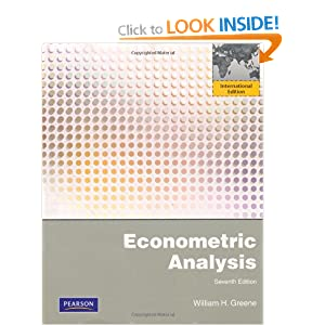Econometric Analysis William H. Greene