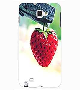 ColourCraft Strawberry Design Back Case Cover for SAMSUNG GALAXY NOTE 1