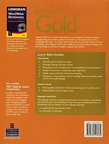 Going for gold. Intermediate. Maximiser. With key. Con CD Audio. Per le Scuole superiori: Maximiser (with Key) and Audio CD