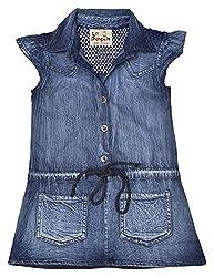 LIL PENGUIN Girl's short sleeved denim shirt dress