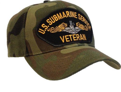 Submarine Service Veteran Hat Navy Seal Ride-Along Official Ball Cap Camouflage
