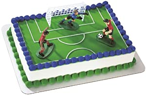 Cake Decorating Kit Of The Month : Amazon.com: Soccer- Kick Off Boys DecoSet Cake Decoration ...