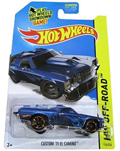 2014 HW Off-Road #116/250, Regular Treasure Hunt Car, Custom '71 El Camino (Blue) - 1