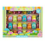 HAPPY EASTER CANDY FILLED EASTER EGGS (32 CANDY FILLED EGGS)(•GREAT FOR EASTER EGG HUNTS)