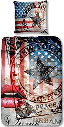 Aminata-coole-Teenager-Bettwsche-USA-135x200-cm-hochwertige-Baumwolle-Amerika-Bettwsche-Flagge-Vintage