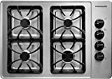 Frigidaire : FFGC3015LS 30 Gas Cooktop with 4 Sealed Burners, Cast Iron Grates - Stainless Steel