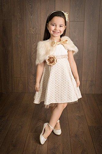 Lilax Little Girls' Sparkle Polka Dot Twirl Dress 3T