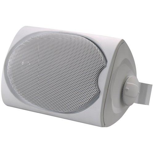 Leviton Sgo99-W Outdoor/Utility Two-Way Loudspeaker With Bracket, White