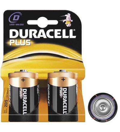 Duracell Pile® Plus (Mono) alcalines LR 20 DP (d) 1,5 V, Lot de 2 en blister