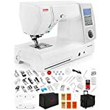Janome Memory Craft Horizon 8900 QCP Special Edition Computerized Sewing Machine w/Extension Table + Trolley + Semi-Hard Cover + Cloth Guide + Much More! (Tamaño: 8900QCP w/ VIP Package)