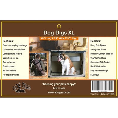 Abo Gear Dog Digs Pet Crate, X-Large