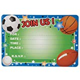 Party Supplies - All-Sports Party Invitations, 10-ct. Packs