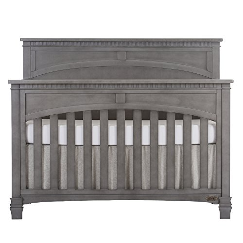 Evolur Santa Fe 5-in-1 Convertible Crib, Storm Grey (Vintage White Crib compare prices)