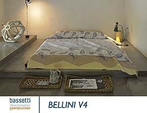 bassetti couvre lit bellini v 4 coton jaune 240x255 cm cuisine maison. Black Bedroom Furniture Sets. Home Design Ideas