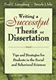 img - for Writing a Successful Thesis or Dissertation: Tips and Strategies for Students in the Social and Behavioral Sciences book / textbook / text book
