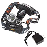 hkbayi New 3x CREE XM-L XML T6 LED 5000Lm Rechargeable Headlamp Headlight Head lamp + AC Charger