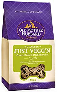 Old Mother Hubbard Crunchy Classic Natural Dog Treats, Just Vegg'N Mini Biscuits, 20-Ounce Bag