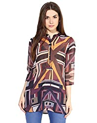 LOVE FROM INDIA Orange Poly Printed Tunic