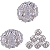 GS MUSEUM Silver Plated Rani Kumkum Plate 2 Sets And Silver Plated Set Of 6 Lotus Incense Stand