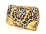 Style Nuvo Gold Leopard Animal Print Handbang Tote Shoulder Bag (Victoria Secret Overstock)